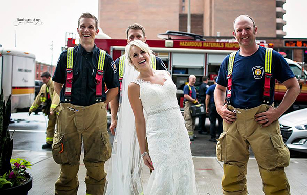 Fire Alarm Interrupts Wedding Ceremony | Firemen