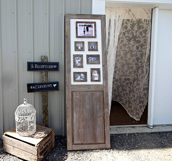 Country Chic Wedding Decor barn entrance