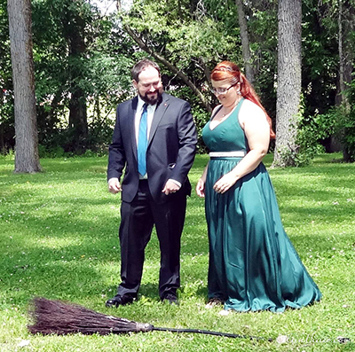 pagan wedding jumping the broom