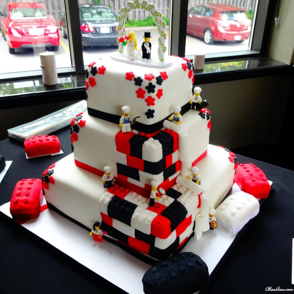 Double Header Wedding Lego Cake