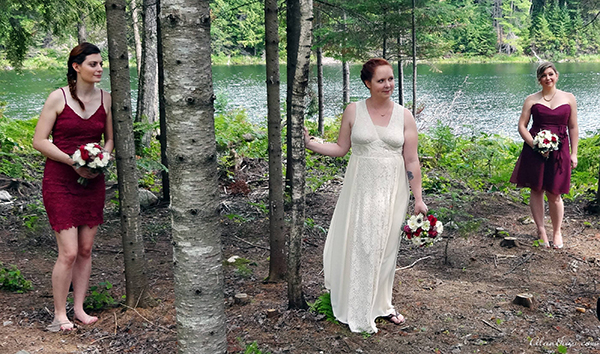 intimate wedding Stephanie and Bridesmaids