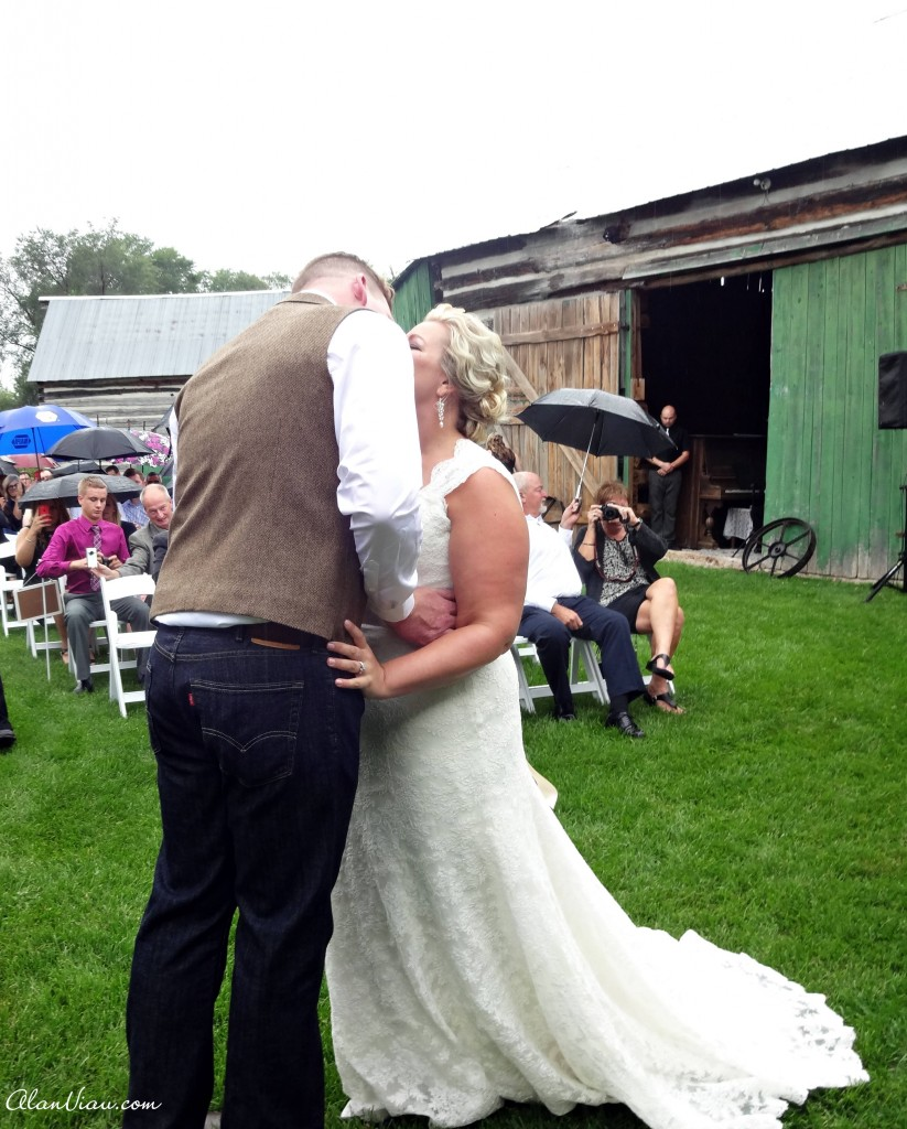 The Unavoidable Wet Wedding Kiss