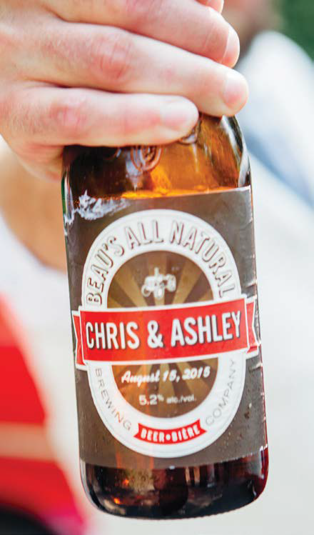Beau's customized beer label. Photo: Beau's Brewing Company.