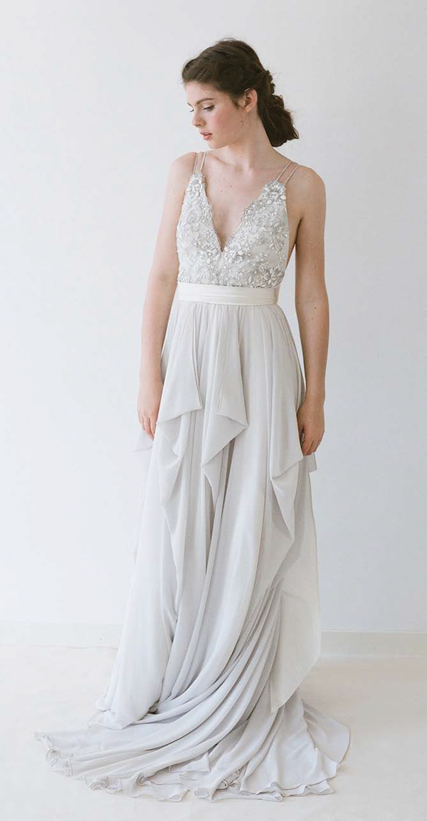 Alexandra In Dove Grey By Truvelle Credit Blush Photography