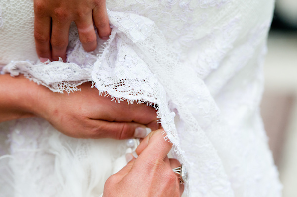 Fixing a wedding dress